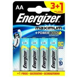 Батарейки Energizer MAX типа E91/AA - 4 шт. (3+1 в подарок)
