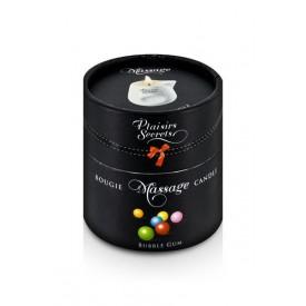 Массажная свеча с ароматом бубль-гума Bougie de Massage Gourmande Bubble Gum - 80 мл.