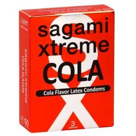 Ароматизированные презервативы Sagami Xtreme COLA - 3 шт.
